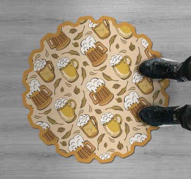 Fantastique tapis en sticker super motifs de bière, qui peuvent être montés à peu de frais dans des stickers pour votre salon. Achetez-le maintenant et soyez heureux.