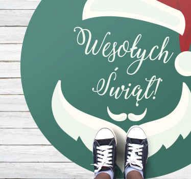 Zielony dywanik winylowy wesołych Świąt, idealny do dekoracji sypialni. Łatwe do czyszczenia i przechowywania. Wysokiej jakości materiał. Sprawdź to!