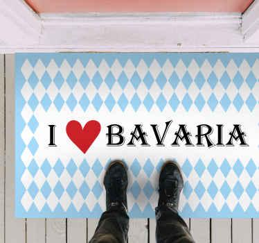 Liebst du bayerien wenn ja, dann begrüßen Sie den gast in Ihrem haus mit diesem bayerischen texteingangsteppich an ihrer haustür.
