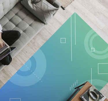 Original alfombra vinílica salón en color azul para hacer que tu casa luzca de forma impresionante y hermosa ¡Compra online!