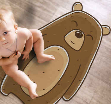 Bear vinyl rug, perfect decoration for your kid's room. Made of high quality vinyl. Easy to clean and store. Check it out!