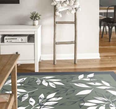 Alfombra vinilo de flores en blanco y negro. Considere traer esta increíble alfombra a su hogar y se alegrará de haberlo hecho.