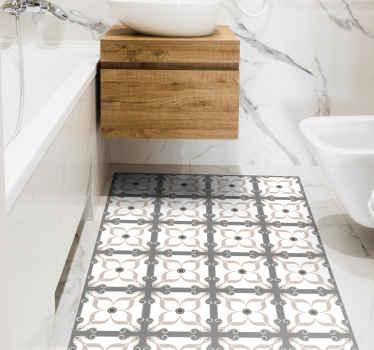 Um tapete moderno perfeito para a decoração da sua casa, com um produtode azulejos cinza e branco que combinam perfeitamente com o ambiente da sua casa