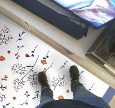 Tapis en sticker de styles botaniques et traditionnels. Tapis à motifs ornementaux colorés pour le salon et d'autres espaces d'une maison.
