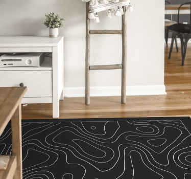 Nice and super design motif black and white  vinyl carpet in great shape for the entrance area and other interiors in a house. An amazing vinyl carpet.