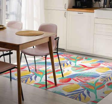 Il tappeto decorativo da cucina con motivo frutti vivacizza la tua cucina o la tua sala da pranzo in modo fantastico. Originale, durevole e di facile manutenzione.