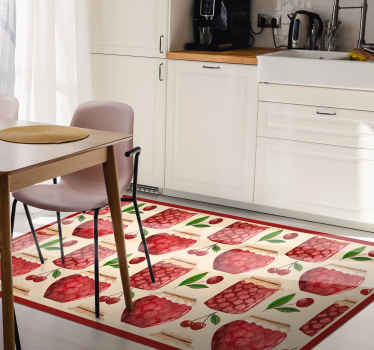 Beautiful kitchen vinyl carpet. It host interesting designs of fruit pots, lovely design to turn your kitchen or dinning space with an amazing look.