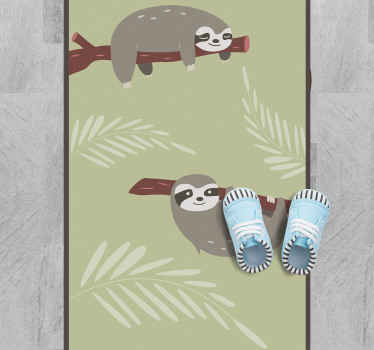 Are you tired after a long hard day of work or school? Well then get relaxed with this relaxing sloth animal vinyl rug! Order it now to feel relaxed!