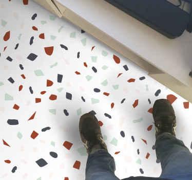 Preciosa alfombra vinílica mosaico de piedra ideal para decorar cualquier estancia de tu hogar, dándole un toque clásico ¡Envío exprés!