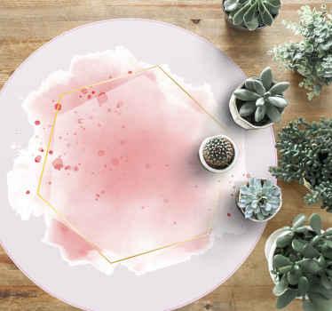 Una alfombra vinílica redonda mosaico rosa perfecto ideal para darle un cambio decorativo a su casa. Elige medidas ¡Envío exprés!