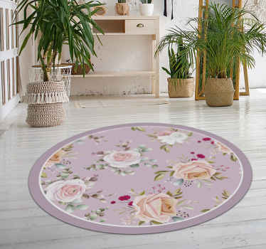 This vinyl carpet with pink floral pattern is a must for anyone who likes flowers in the house and in the decoration. With this design its super.