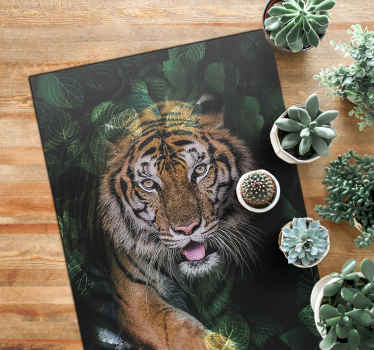This wild tiger animal vinyl carpet would give a luxury look to your home. It can be placed on any part of your house. Available in any size.