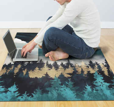 Diseño de alfombra vinilo habitación de niebla nocturna para decorar tu hogar de una manera divertida e interesante ¡Compra online!