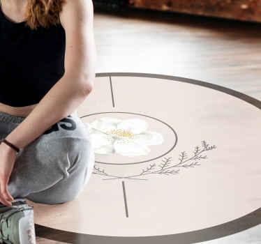 Mermer misk gülü yatak odası halısı evinizin herhangi bir bölümünü süslemek için. Halı bir oturma odası zemininde veya iç mekanlarda dekore edilebilir.