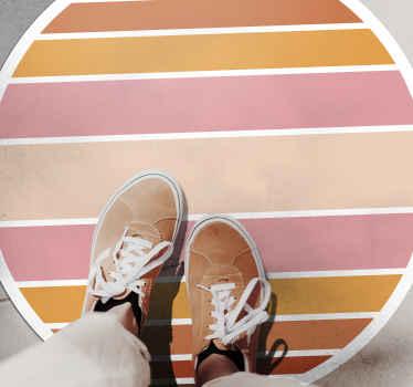 Tapis en sticker soleil rayé coloré pour donner à votre maison un aspect original et coloré. Plusieurs tailles pour un produit de forme ronde disponibles.