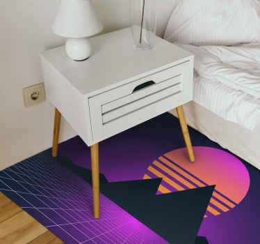 Vintage retro sun modern vinyl flooring in great shape and easy to clean for any entry and other home interiors. Home delivery !