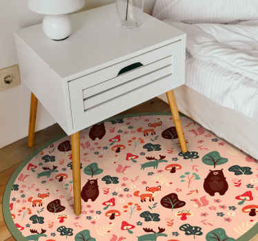 This awesome and cute cartoon animal vinyl rug will be like the gift of the year to not only yourself, but also to your house! Order it now!