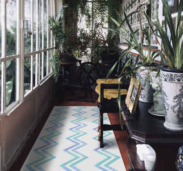 his mosaic zig zag pattern vinyl carpet would be lovely for a hallway and other areas in a house. It is original, durable and easy to maintain.