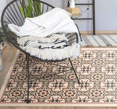 Un tapis en sticker à carreaux vintage de forme rectangulaire pour tous les amateurs de vintage et de carreaux. Des designs incroyables qui peuvent rendre n'importe quel espace magnifique!