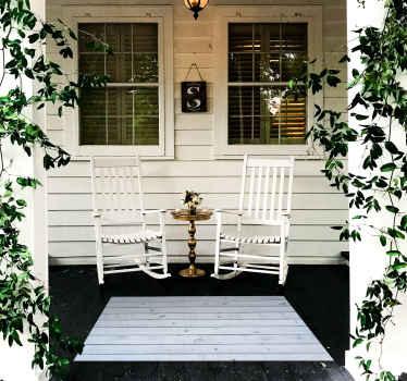 sticker original en bois bleu pour décorer votre maison que ce soit à l'intérieur ou à l'extérieur. Antidérapant et anti-allergique! Facile à maintenir!