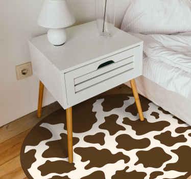 Genießen Sie diesen braunen Vinyl Teppich mit Tiermotiv, indem sie jeden Raum, den sie bevorzugen, damit dekorieren. Hochwertiges vinyl zu Ihnen nach Hause geliefert!