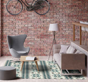 If you lovenordic texture design, this is the rug for you! This nordic vinyl rug offers an amazing look in your home! Your floors will be protected.