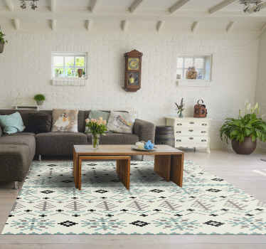 A unique vinyl rug with traditional nordic design that will decorate any room in your home. Our vinyl rugs with this effect will give your home style.