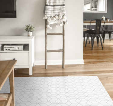 Nordic hexagons nordic vinyl rug  to decorate either a dinning, living room or bedroom space. It is original and available in any size.