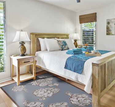 Dale a tu suelo un aspecto más fresco y mucho más exclusivo hoy con esta alfombra vinilo vintage con remolinos de nubes