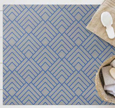¡Agrega un toque de sofisticación y estilo a tu hogar con esta hermosa alfombra vinilo geométrica de tejido cesta! ¡Entrega a domicilio!