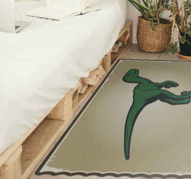 Een dinosaurus vinyl tapijt gemaakt met de beste materialen, ideaal voor uw kinderen! Maak indruk op uw kinderen met dit originele vinyl vloerkleed!