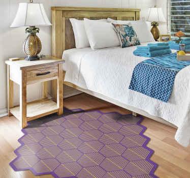 Schöne lila mosaikfliesen vinyl teppich mit einer einzigartigen form, um originelles dekor nach Hause zu haben. Wählen Sie die Größe, die sie für dieses Produkt bevorzugen.