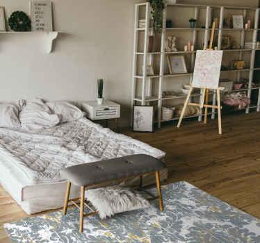 Tenstickers bietet Ihnen originelle designs, um den look ihres Hauses in eleganz zu verwandeln. Schauen Sie sich diesen grauen Vinyl Teppich an.