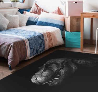 Alfombra vinilo animales con T-Rex realista para que decores tu salón, el cuarto de tus hijos o el tuyo con este impresionante diseño