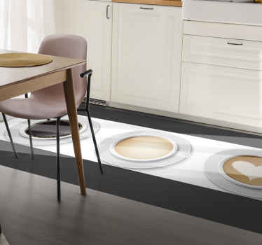 The perfect rectangular coffee vinyl rug to help elevate your homes style! Choose the best size for you and get decorating.