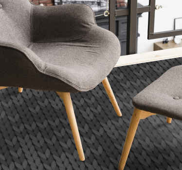 An original and realistic designed grey ropes minimal vinyl rug. It is durable, manufacture with the best of quality vinyl in the market.