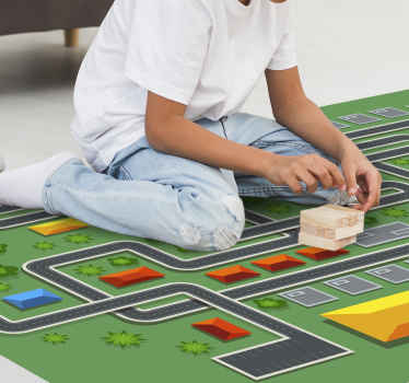 Grab this stunning kinds road map vinyl rug to put in their room or nursery! With +10,000 satisfied customers you are in safe hands.