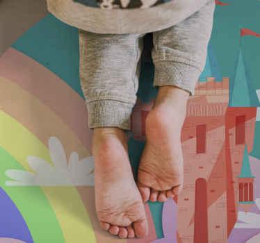 Ein atemberaubender Vinyl Teppich für kinderzimmer ist ein prinzessinenthema, das Ihr kleines mädchen lieben wird. Melden Sie sich für 10% rabatt auf Ihre erste bestellung an.