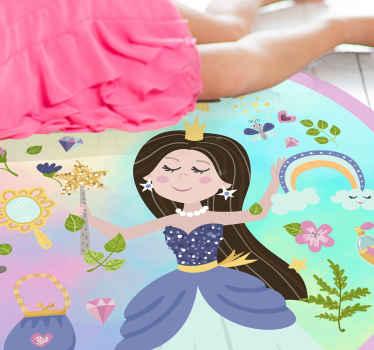 Un tapis en sticker magique pour chambre d'enfants avec princesse, parfait pour la chambre de votre petite fille! Rabais disponibles pour vous en ligne aujourd'hui.