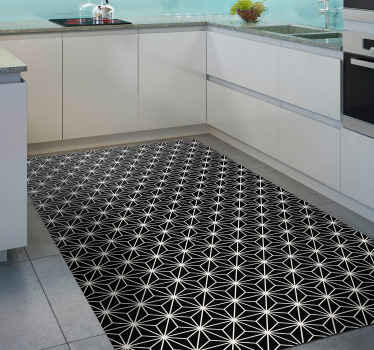 Amazing geometric pattern vinyl rug with diamond shapes to update the floors of your home! Simple to apply and maintain.