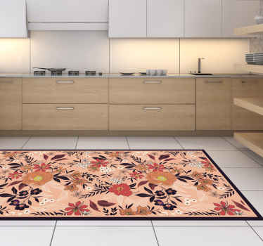 Carpet with elegant roses and flowers. This decorative object is very subtle in color and will certainly suit any room in your home