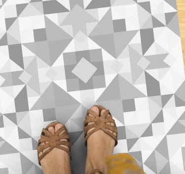 Alfombra vinílica mosaico de vidrio gris para que decores tu casa con un diseño original. Elige las medidas ¡Compra online ahora!