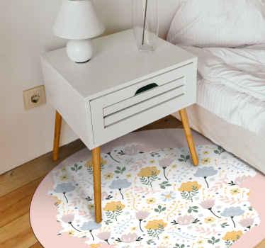 Udekoruj dowolne pomieszczenie w swoim domu tym abstrakcyjnym okrągłym dywanikiem winylowym w kwiaty z mapą polski i będziesz zadowolony, że to zrobiłeś. łatwe w utrzymaniu i trwałe.