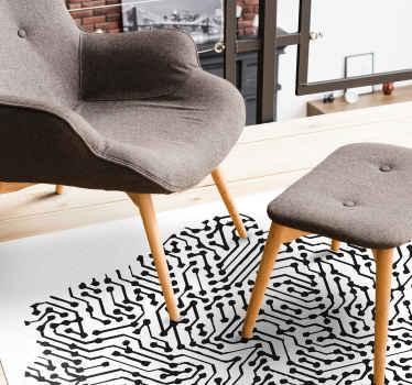 Abstrakcyjna mapa polska projekt dywanu winylowego do domu i innych przestrzeni. Dywan nadaje się do każdego pomieszczenia w domu i można go prać.