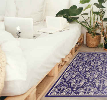 Vinyl rug with Victorian pattern. You can easily personalize it in any size.  It is made of high quality vinyl material. Check it out!