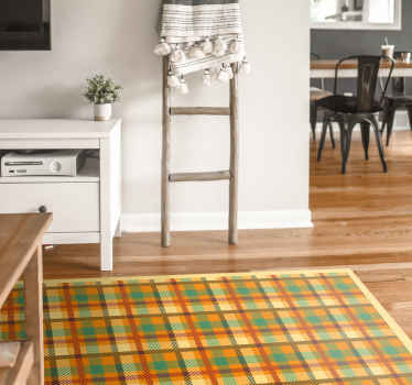 Home Office Vinyl Rug with Scottish pattern design could help you achieve that effect you want to achieve in your home office.