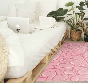 An incredible pink brain vinyl rug to decorate your home with! Sign up today a 10% discount on your first order with us.