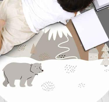 Surpreenda o seu filho com este tapete de vinil animal de estilo nórdico e deixe-o agradecer pelo seu produtobacana. Compre na nossa loja online hoje!