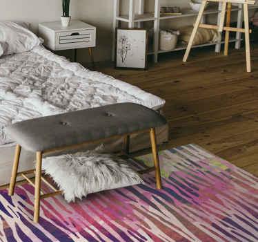 Si está cansado de esos diseños de pisos antiguos que parecen no llamar su atención, mire esta alfombra vinilo animal con textura de cebra