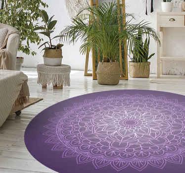 Tapis en sticker avec mandala violet. Le sticker montre un mandala floral violet. Il est fait de matériaux en sticker de haute qualité. Vérifiez-le!